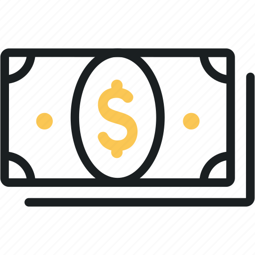 cash, dollars, finance, money, notes, payment, shopping icon
