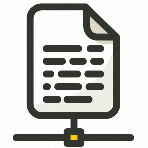 document, file, networking, sharing icon