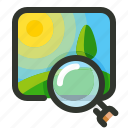 image, search, zoom icon