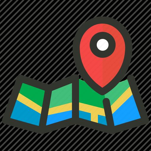 local, location, map, seo icon