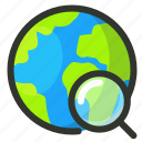 earth, globe, search, world icon