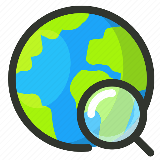 earth, globe, search, world icon