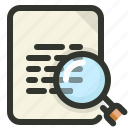 document, file, search, seo icon