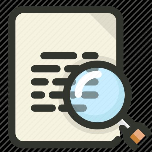 document, file, search, seo icon