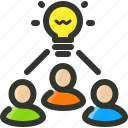 brainstorm, creativity, idea, strategy, team icon
