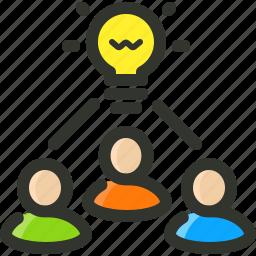 brainstorm, creativity, idea, strategy, team icon