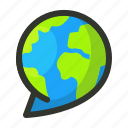 global, language, translation icon