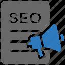 speaker, marketing, promotion, document, megaphone, seo