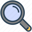 find, magnify glass, search, seo, zoom icon