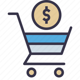 currency, dollar, online, payment, seo tool, shopping, trolly icon