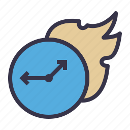 boostup, fast, faster, fire, speedup, timer, watch icon