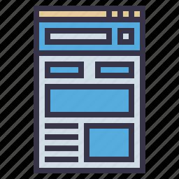 blog, browser, news feed, optimization, report, seo tool, window icon