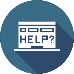 browser, device, error, help, laptop, rescue, window icon