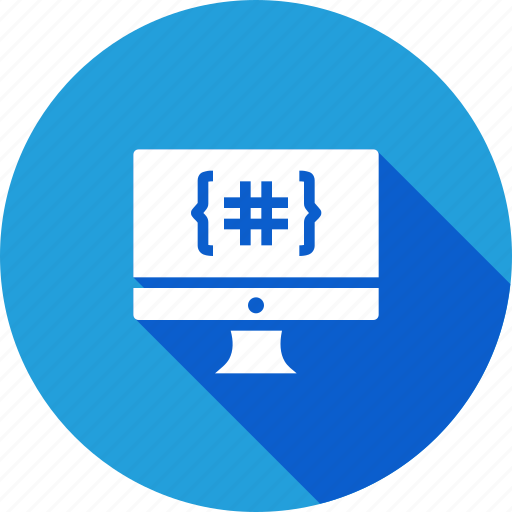 code, coding, development, device, display, language, monitor icon