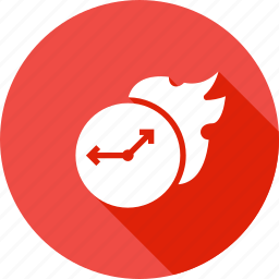 boostup, deadline, fire, managemnet, speedup, time, watch icon