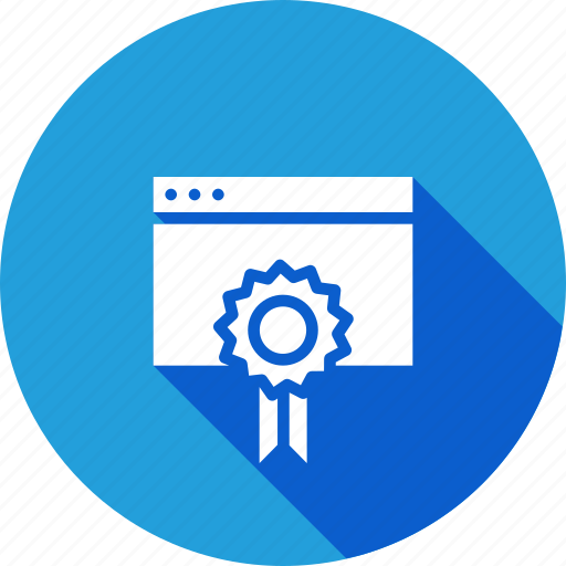 badge, favorite, prize, seo tool, star, window, winning icon