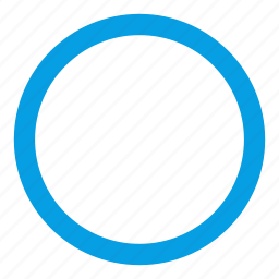 circle, circle outline, web icon