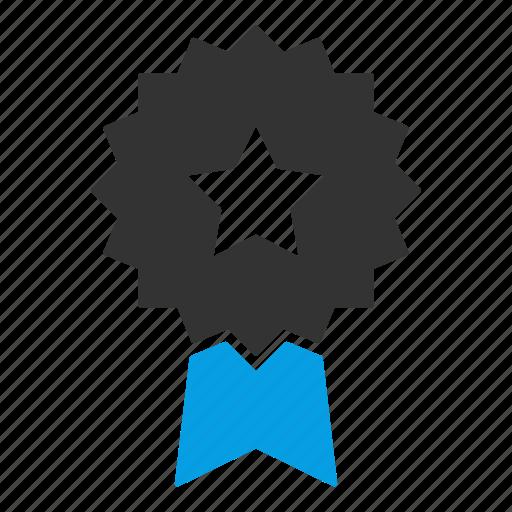 award, badge, reward, ribbon, ribbon badge, winner badge icon