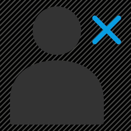 close, delete, interface, people, person, user icon