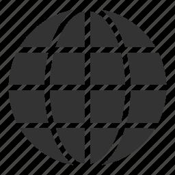 circular grid, earth grid, globe grid, internet, round grid, world grid icon