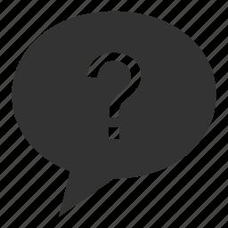 communication, conversation, dialogue, question, social, talk icon