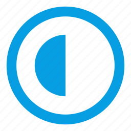 circle, half empty, half full, round, semicircles, web icon