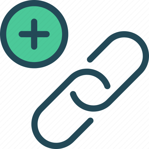 add, anchor, connect, hyperlink, link, link building, plus icon