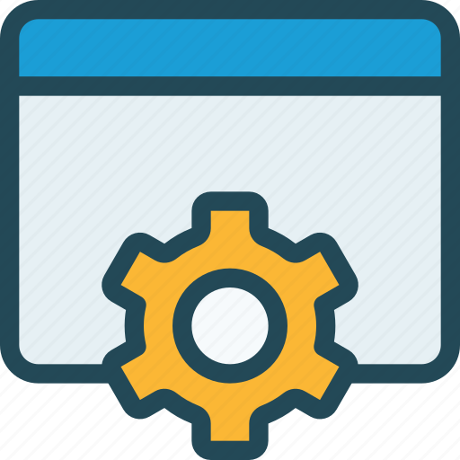 browser, control, customize, development, gear, page, preferences icon