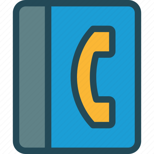 address book, call, communication, contact list, mobile number, phone, support icon