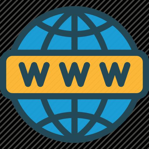 domain, http, link, url, webpage, website, www icon