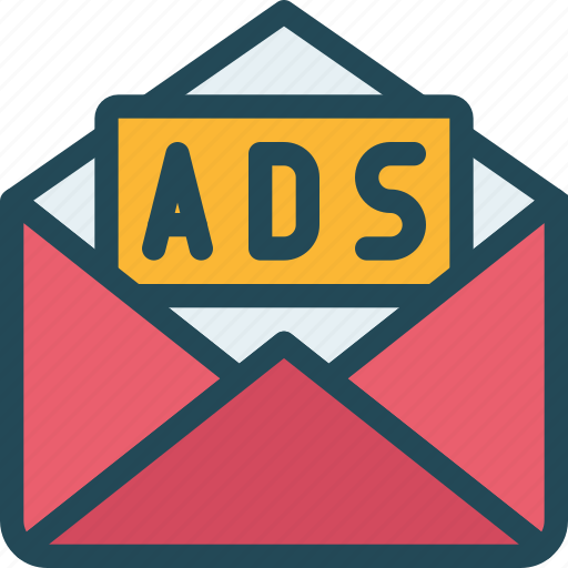 ads, email, mail, marketing, message, promotion, subscribe icon