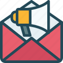 email, mail, marketing, megaphone, news letter, promotion, speaker icon