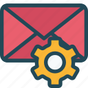 configuration, email, mail, options, preferences, setting, settings icon