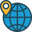 connection, earth, global, local seo, location, social, targeting icon