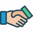 agreement, contract, cooperation, deal, friendship, handshake, partnership icon