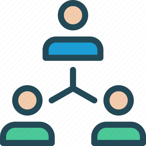 coworkers, hierarchy, leader, management, structure, team, team building icon
