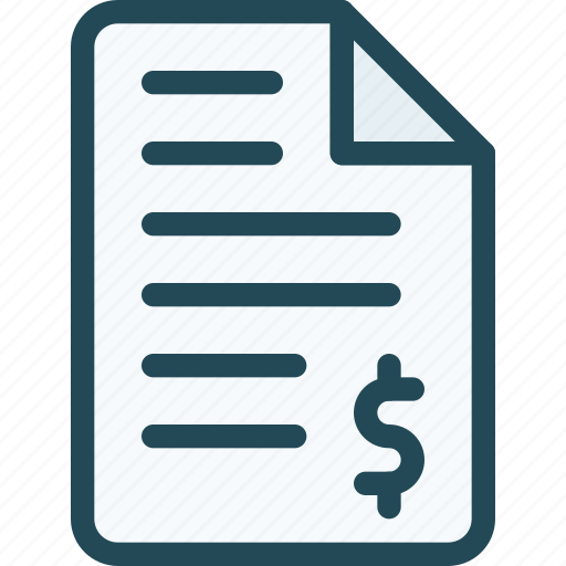 bank, bill, document, invoice, note, payment, receipt icon