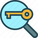 audit, find, generator, keyword engine, marketing, research, seo icon
