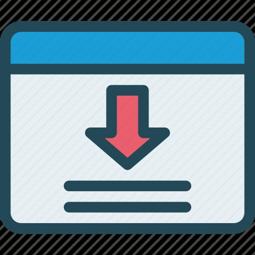 browser, download, internet, landing page, optimization, webpage, website icon