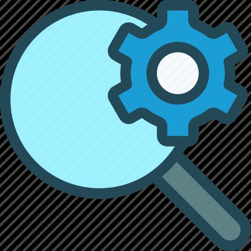 audit, examine, explore, magnifier, optimisation, search engine, seo icon