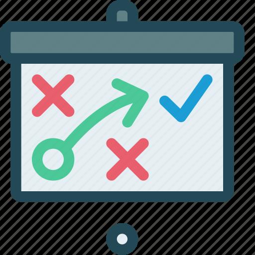 blackboard, conference, efficiency, marketing, plan, strategy, training icon