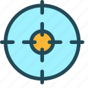 aim, bullseye, fosuc, goal, purpose, success, target icon