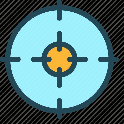 aim, bullseye, fosuc, goal, purpose, success, target icon
