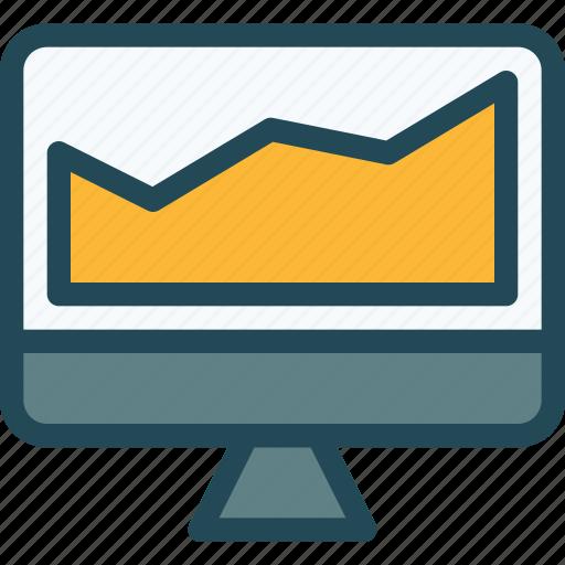 analytics, diagram, financial report, monetization, monitoring, online presence, sales icon