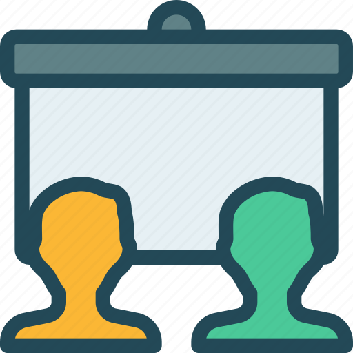 blackboard, education, presentation, team, team building, training, work icon