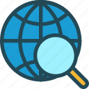 global, optimization, research, search, seo, target, world icon