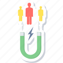 attract, customers, magnetic, people, user icon