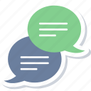 bubble, chat, comment, conversation, message, talk, text icon