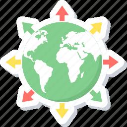 communication, connection, globe, internet icon