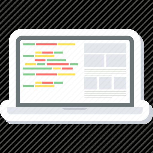 code, coding, development, html, language, programming, web icon